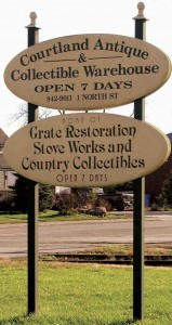 Courtland Antique And Collectable Warehouse Sign