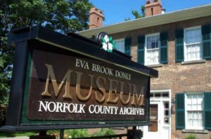 Eva Brook Donly Museum Front Sign