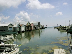 Port Rowan Marina View of Boat Houses