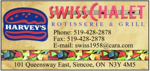 Swiss Chalet Harveys