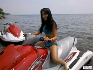 Girl Riding Jetski