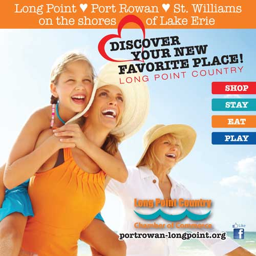 This is an advertisement for Long Point Chamber