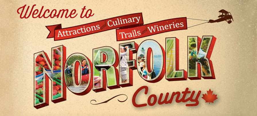 This is a graphic styled image of Norfolk County.