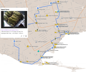 Asparagus Trail Map Norfolk County