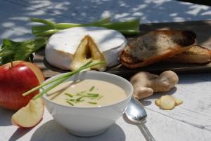 Apple brie soup