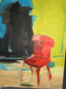 Abstract painting of a chair