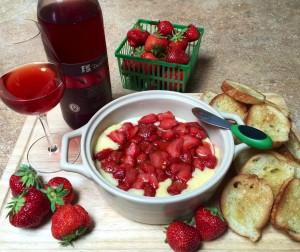 Roasted Strawberries & Brie