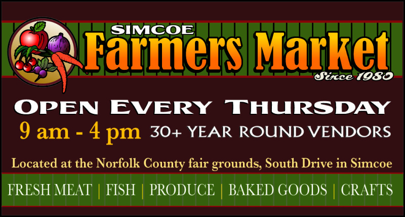 Simcoe Farmers Market sign