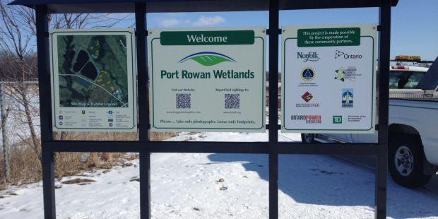 Port Rowan Wetlands sign