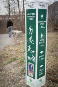 Sunrise Trail marker