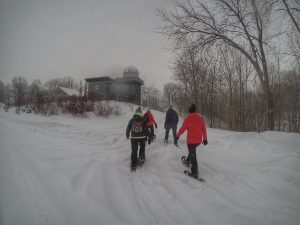 Snowshowing at Long Point Eco Adventures