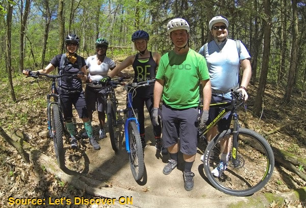 Cyclists Let's Discover ON