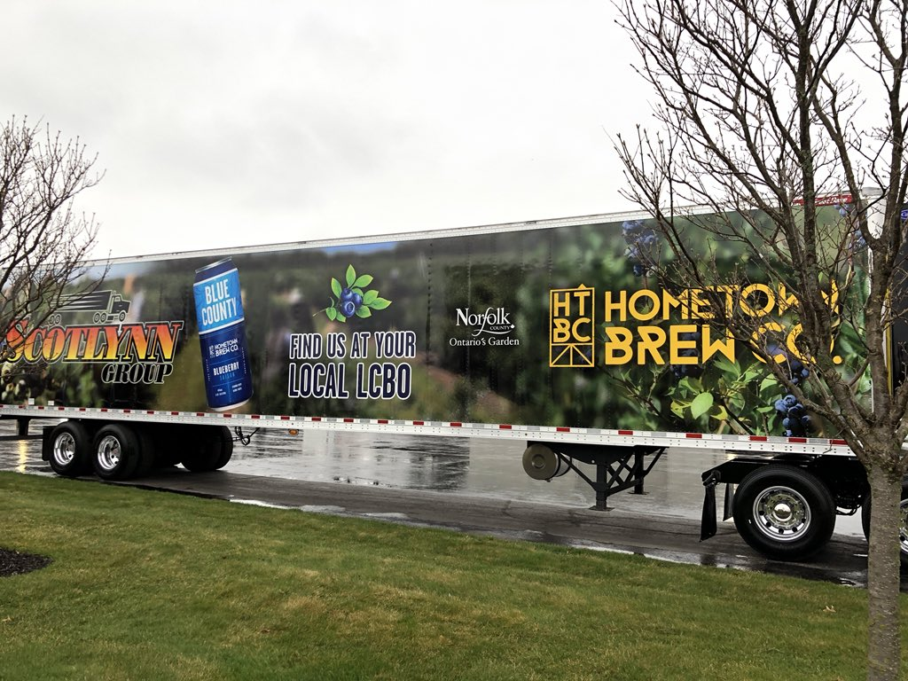 Hometown Brew on truck