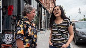 Norfolk County Tourism's Ted Willey with blogger Joyce Leung