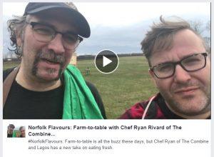 Chef Ryan and Norfolk Flavours Ambassador Jason Mayo