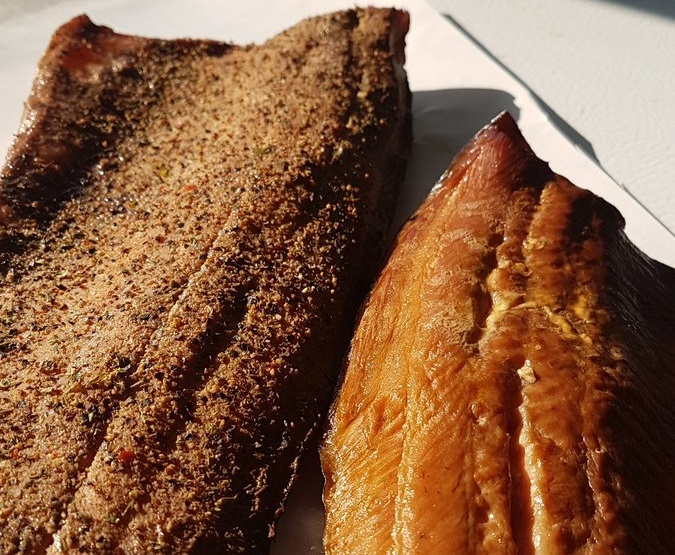 Smoked Lake Erie fish trout