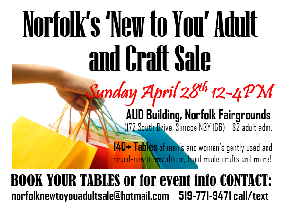 Norfolk New To You Spring Adult And Craft Sale Norfolk County Tourism