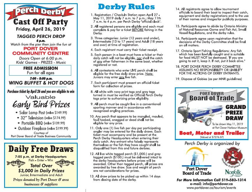 Perch Derby Rules