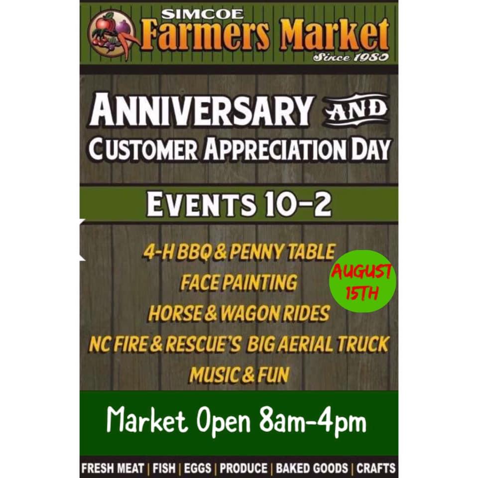 Simcoe Farmers' Market Customer Appreciation Day