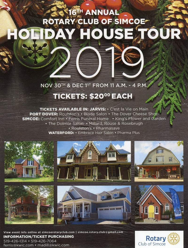 Rotary Club of Simcoe Holiday Home Tour