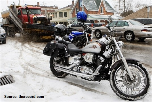 motorcycle winter port dover