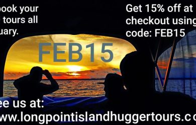 Long Point Island Hugger Tours February Promotion